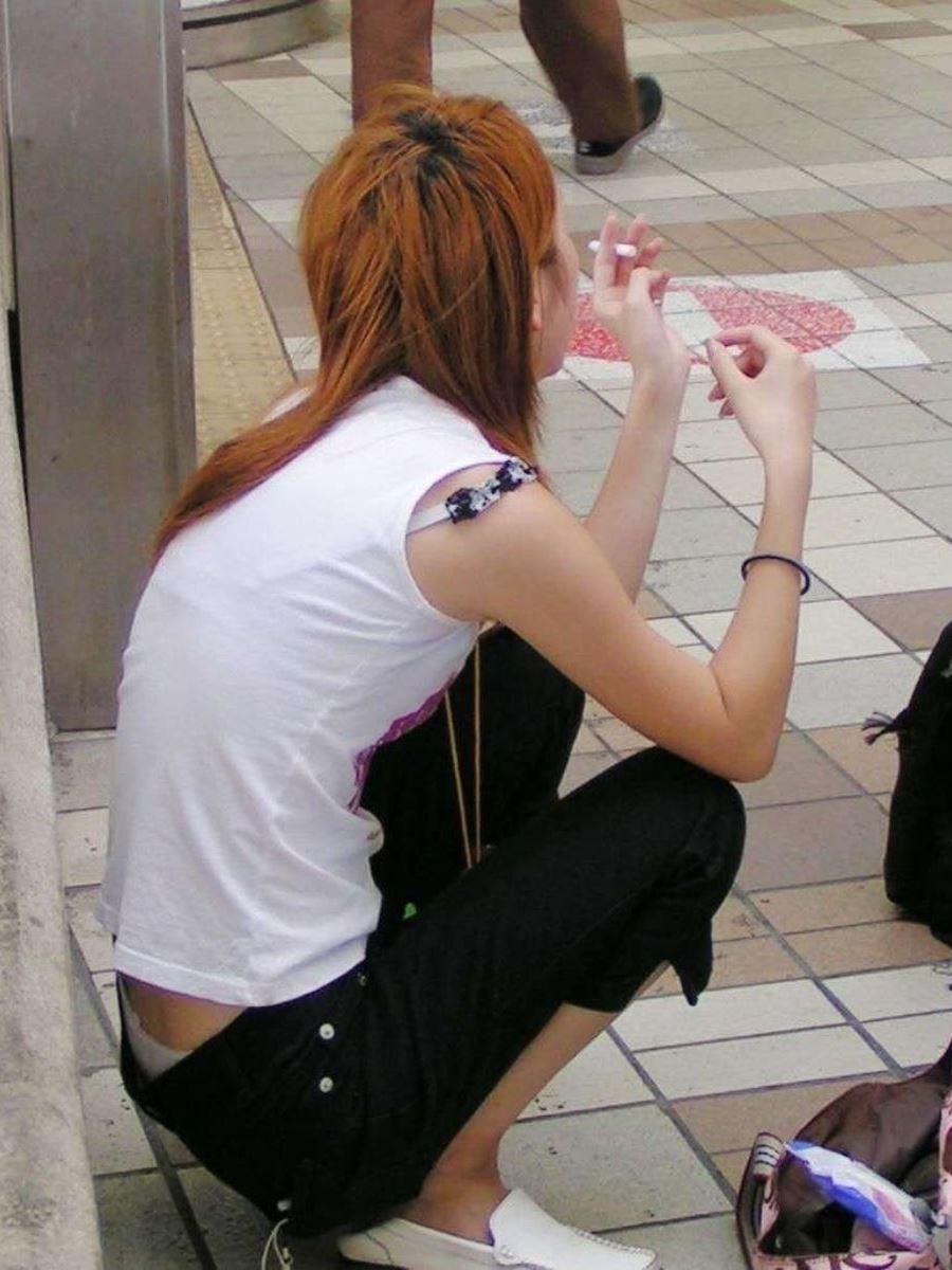 ハミブラ・透けブラの素人街撮り画像 42