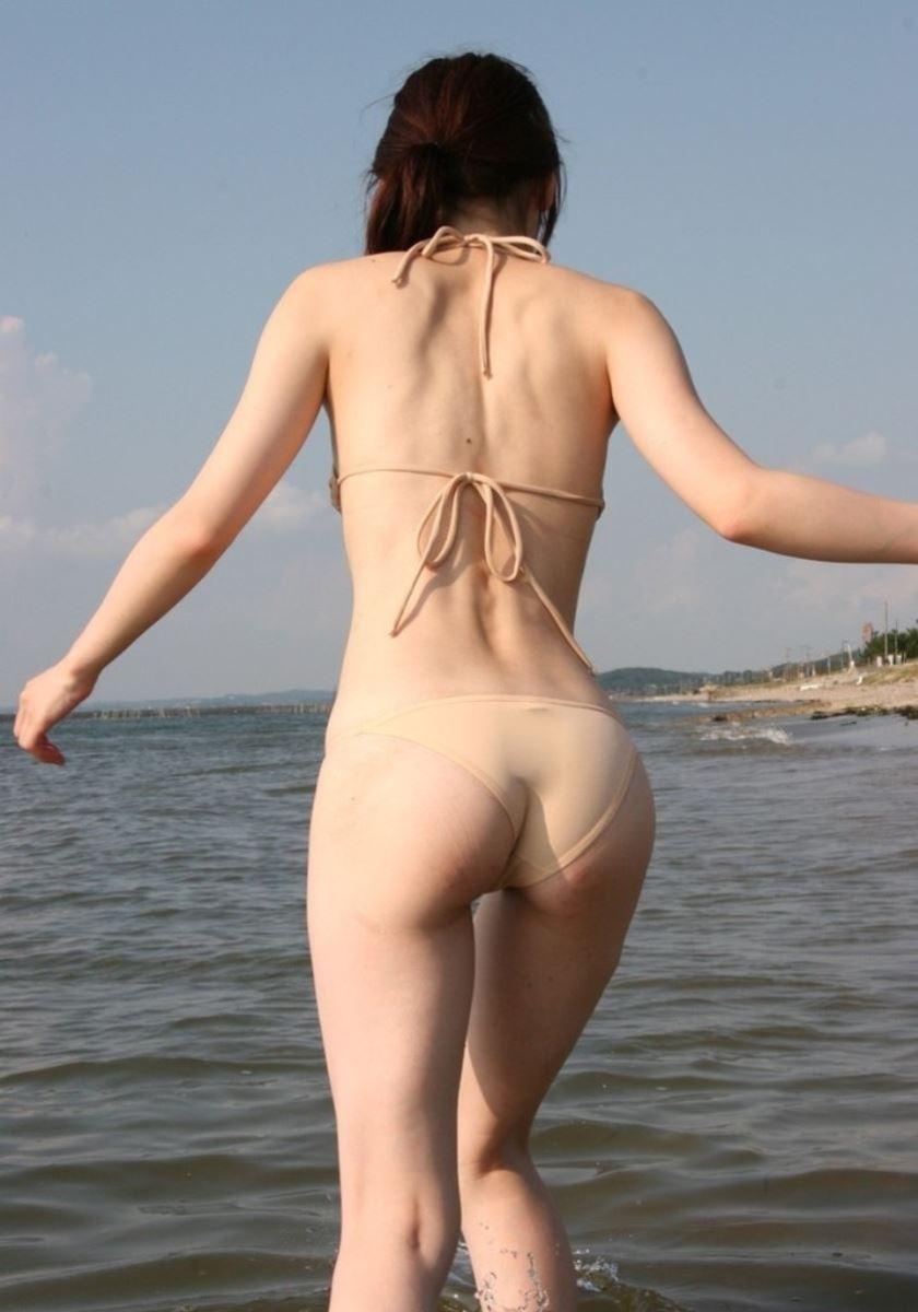 水着素人 ハミケツ画像 47