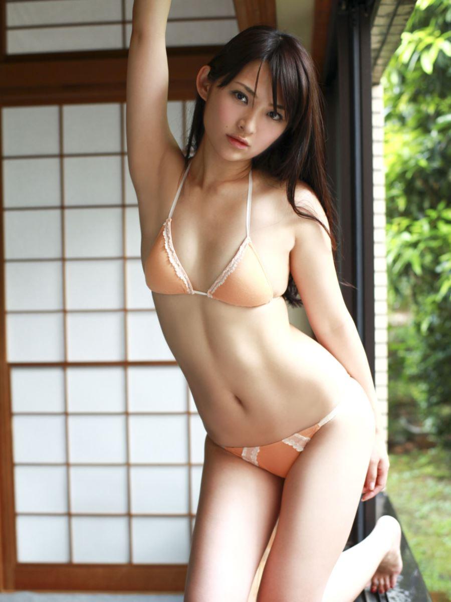 競泳水着 ビキニ姿 かわいい 鈴木咲 エロ画像 14
