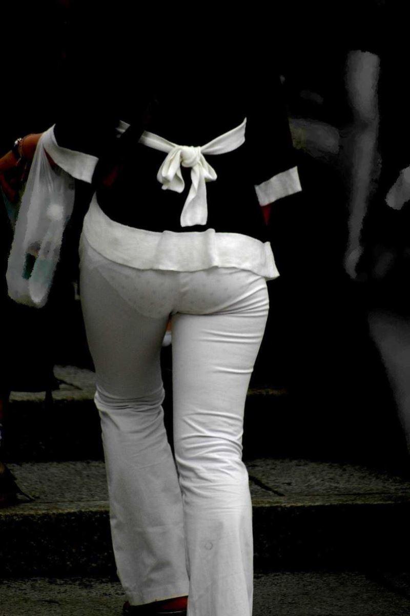 白パンツ パンティライン スケスケ 透けパン エロ画像 50