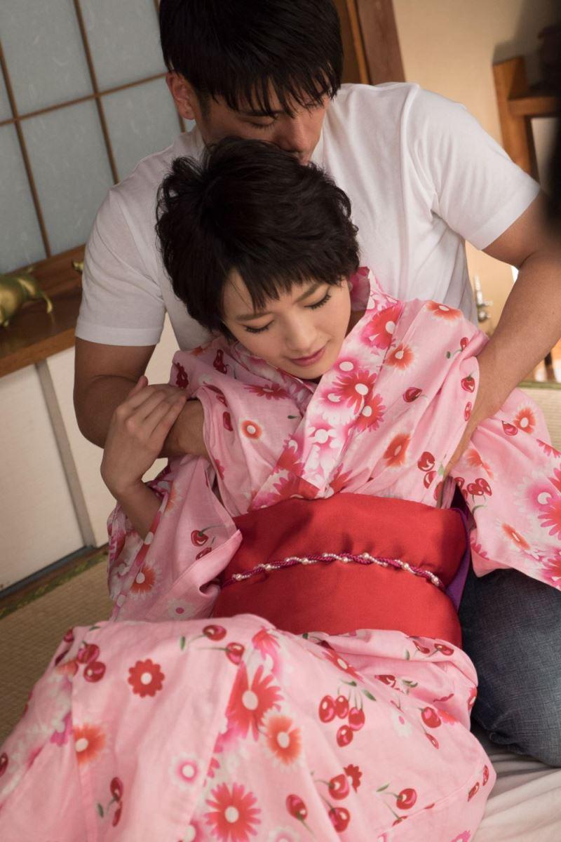 幼馴染 回される 羽田真里 浴衣 セックス 画像 46