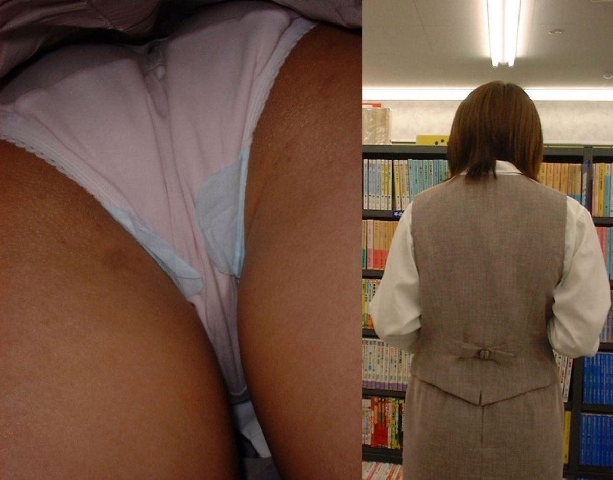 OL 働く女性 逆さ撮り パンチラ エロ画像 19