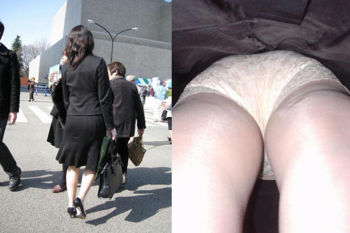 OL 働く女性 逆さ撮り パンチラ エロ画像 21