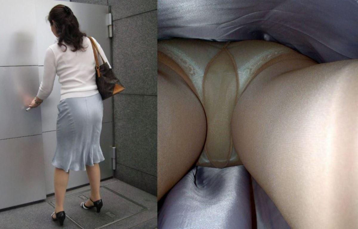 OL 働く女性 逆さ撮り パンチラ エロ画像 35