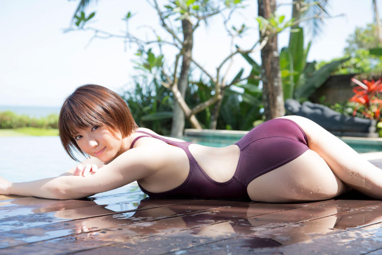 浅倉結希 ショートカット 可愛い 水着 グラビア 画像 19