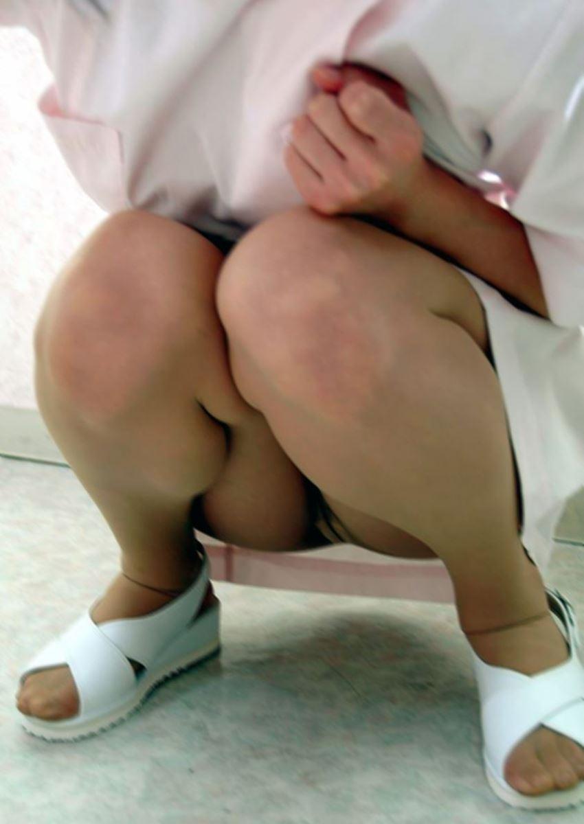 本物ナースを盗撮!!看護師パン透けパンチラ画像画像 19