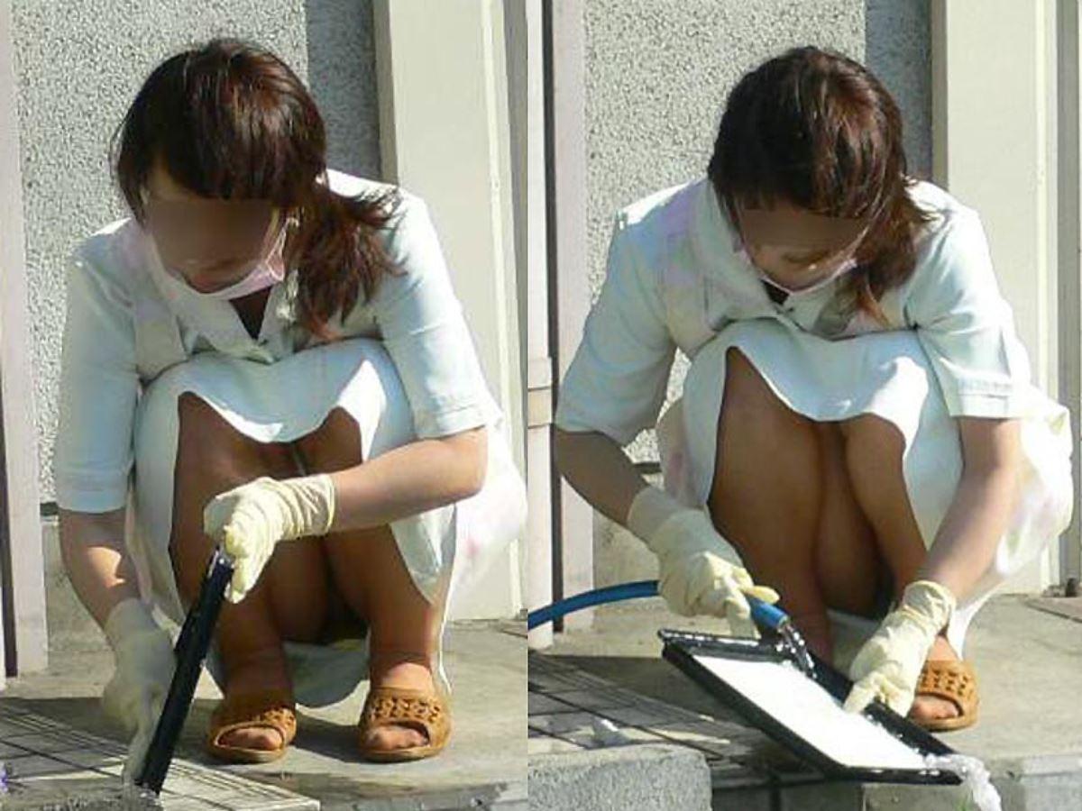 本物ナースを盗撮!!看護師パン透けパンチラ画像画像 31