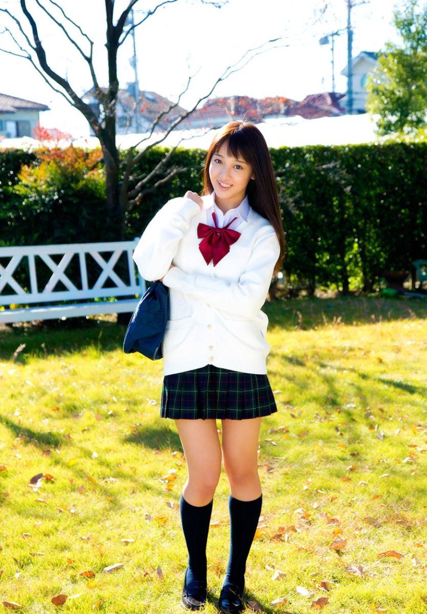 池田ショコラ スクール水着 制服 かわいい エロ画像 52