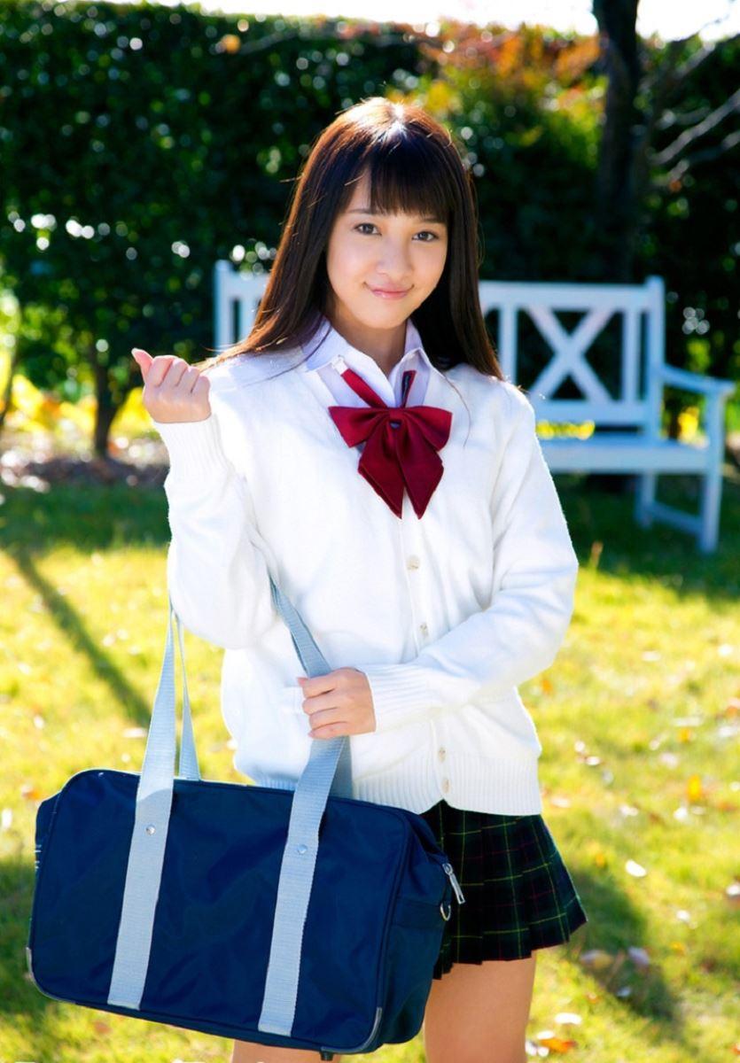 池田ショコラ スクール水着 制服 かわいい エロ画像 55