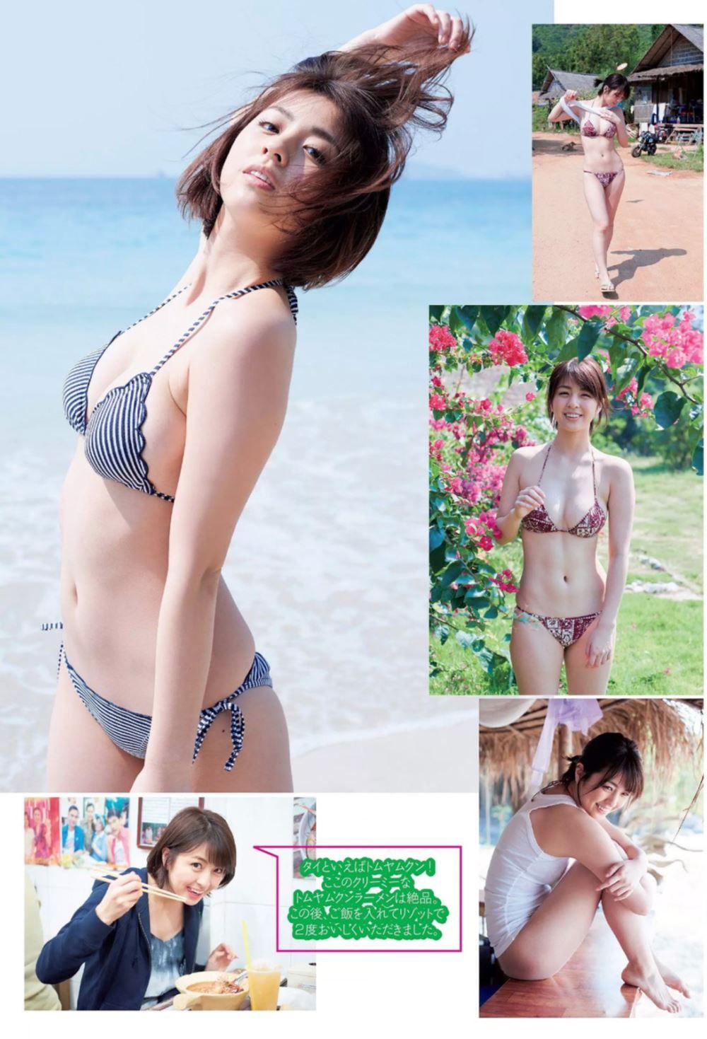 柳ゆり菜の最新ショートヘアが可愛い水着グラビア画像 89