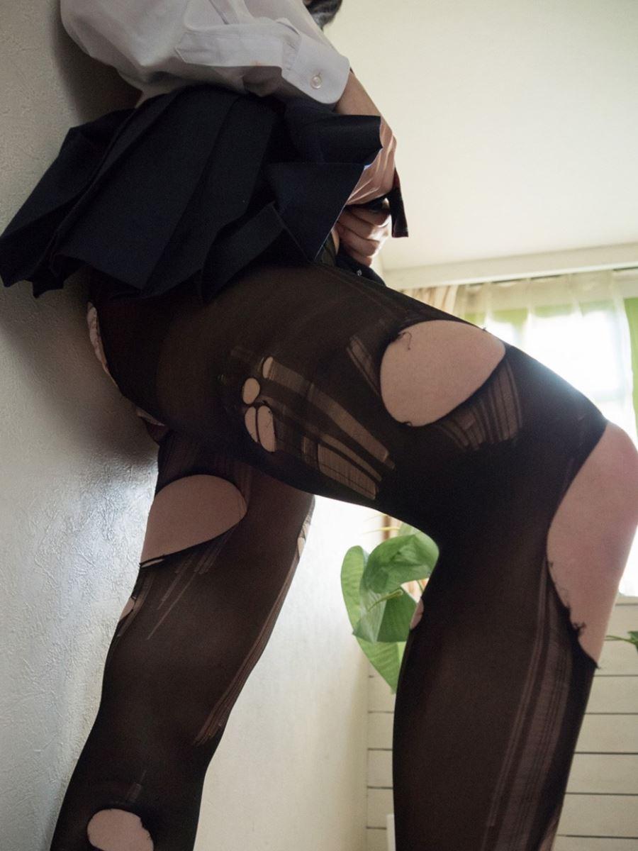 童顔素人にJKっぽく制服を着させたハメ撮りセックス画像 90