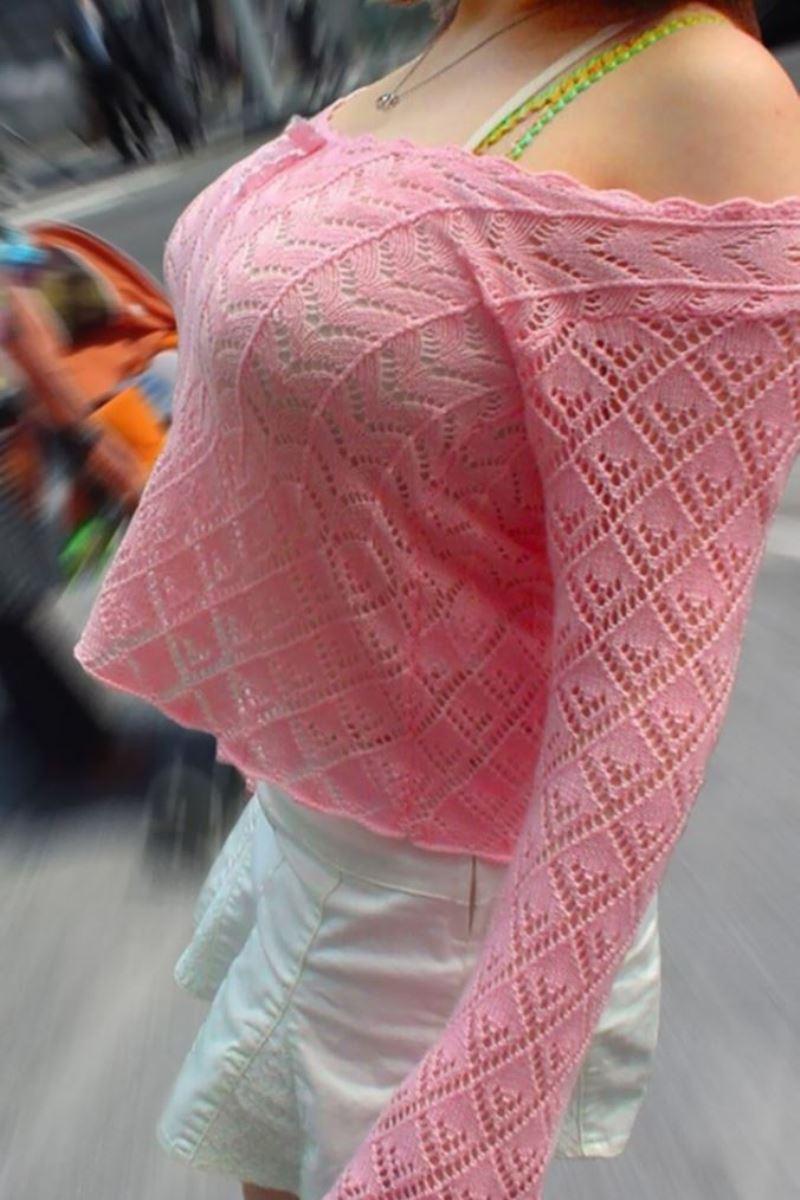 巨乳素人 街撮り 着衣おっぱい画像 1