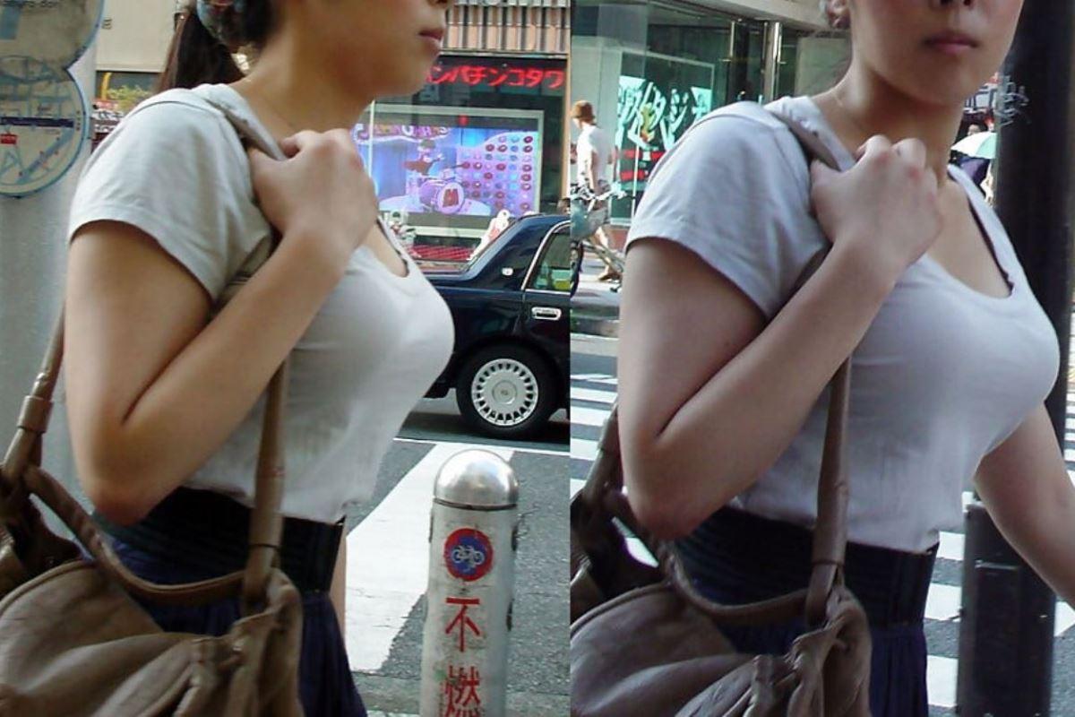 巨乳素人 街撮り 着衣おっぱい画像 35