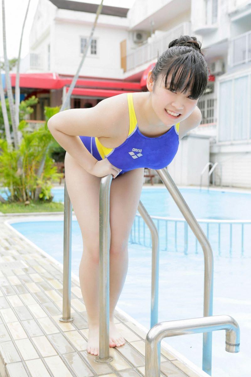ゆうみ(元ジュニアアイドル)爆乳Hカップ水着画像 46