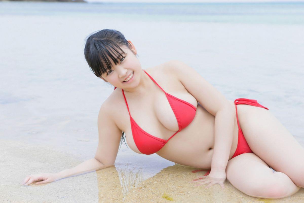 ゆうみ(元ジュニアアイドル)爆乳Hカップ水着画像 90