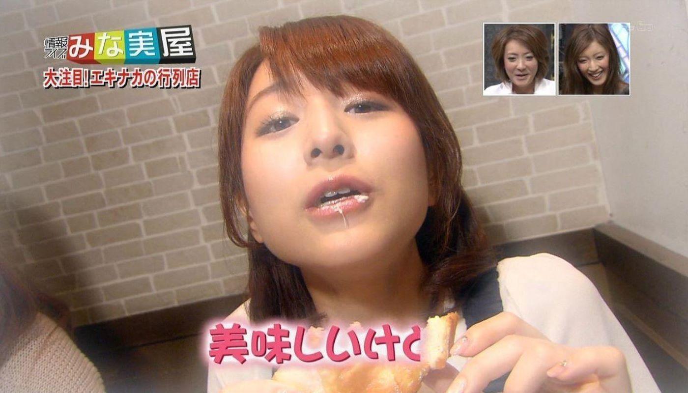 女子アナやアイドルの芸能人フェラ顔・疑似フェラ画像 62