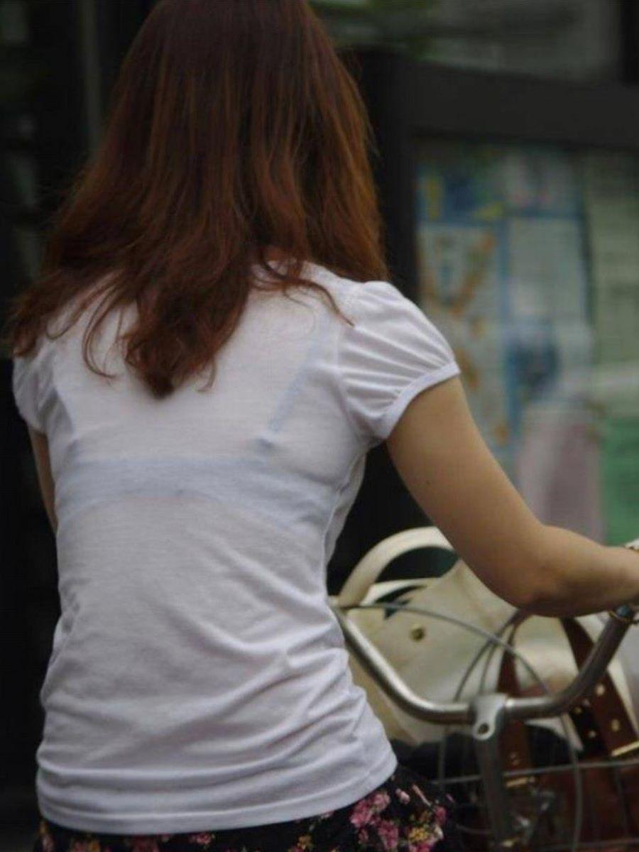 街撮り ブラ線 透けブラ 画像 84