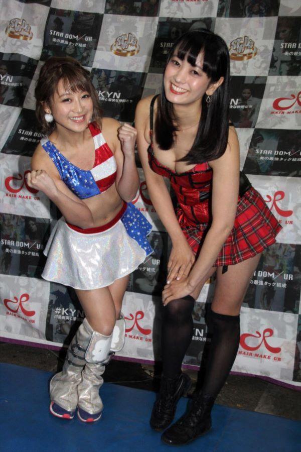 女子プロレスに参戦した脊山麻理子と鈴木奈々のハミケツ・ハミマン画像 1