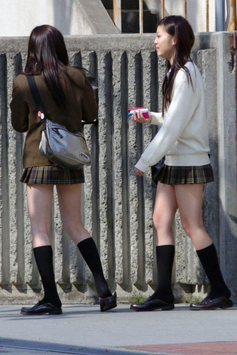 制服JK 女子高生 通学風景 画像 4