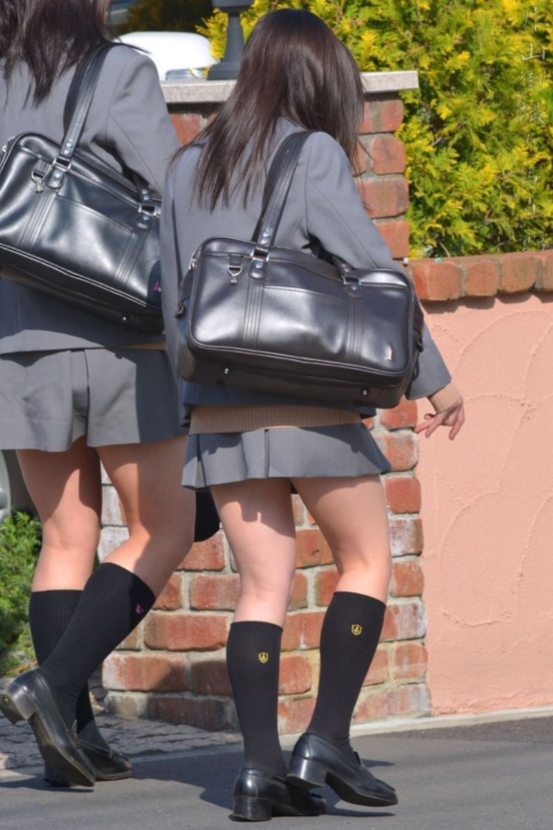 制服JK 女子高生 通学風景 画像 9