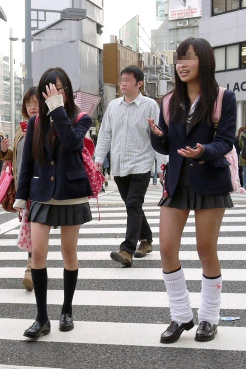 制服JK 女子高生 通学風景 画像 14