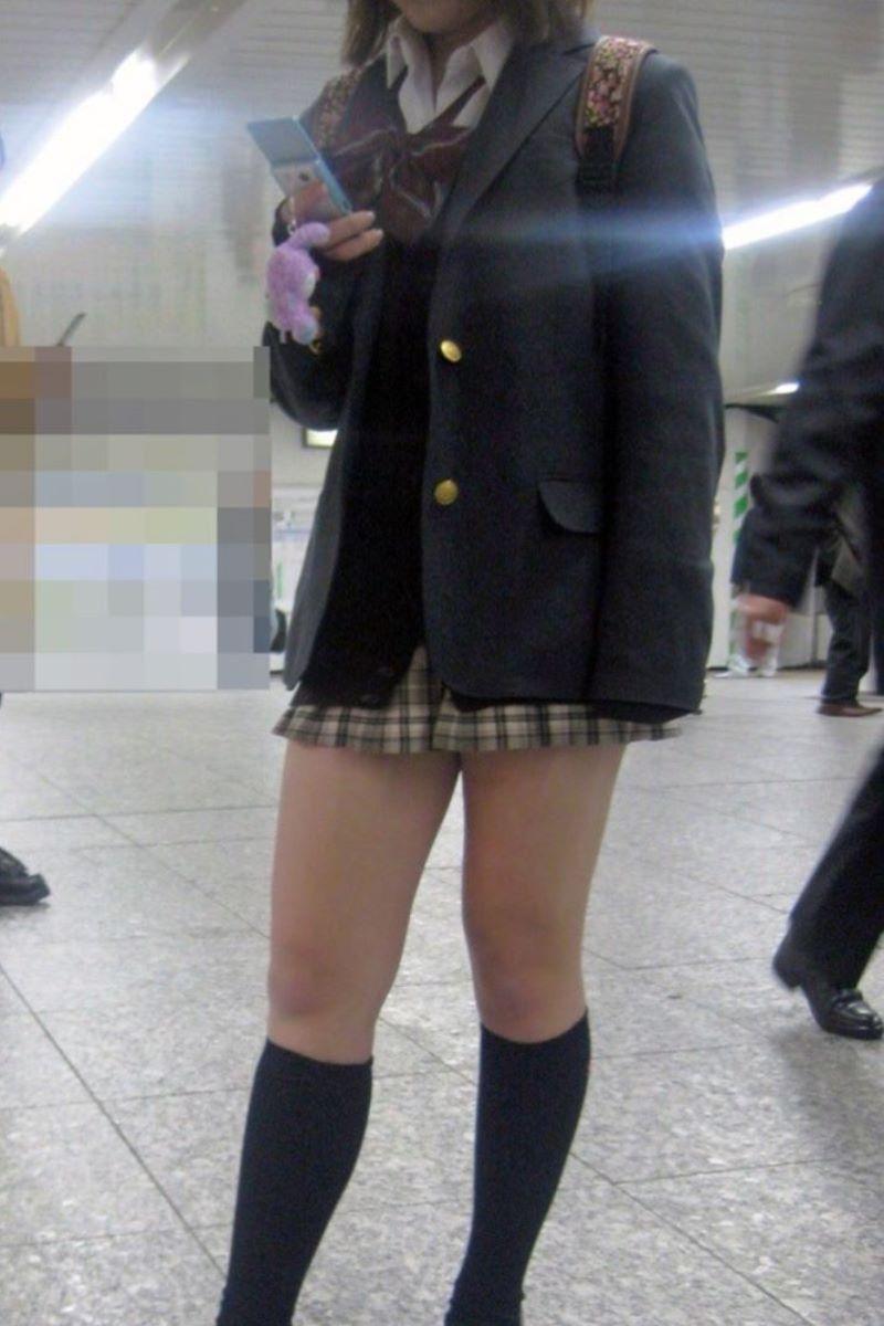 制服JK 女子高生 通学風景 画像 19