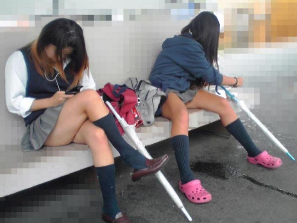 制服JK 女子高生 通学風景 画像 40