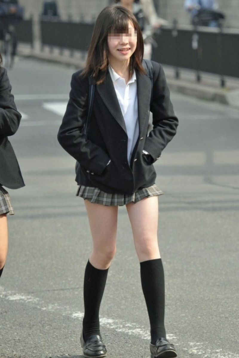 制服JK 女子高生 通学風景 画像 44