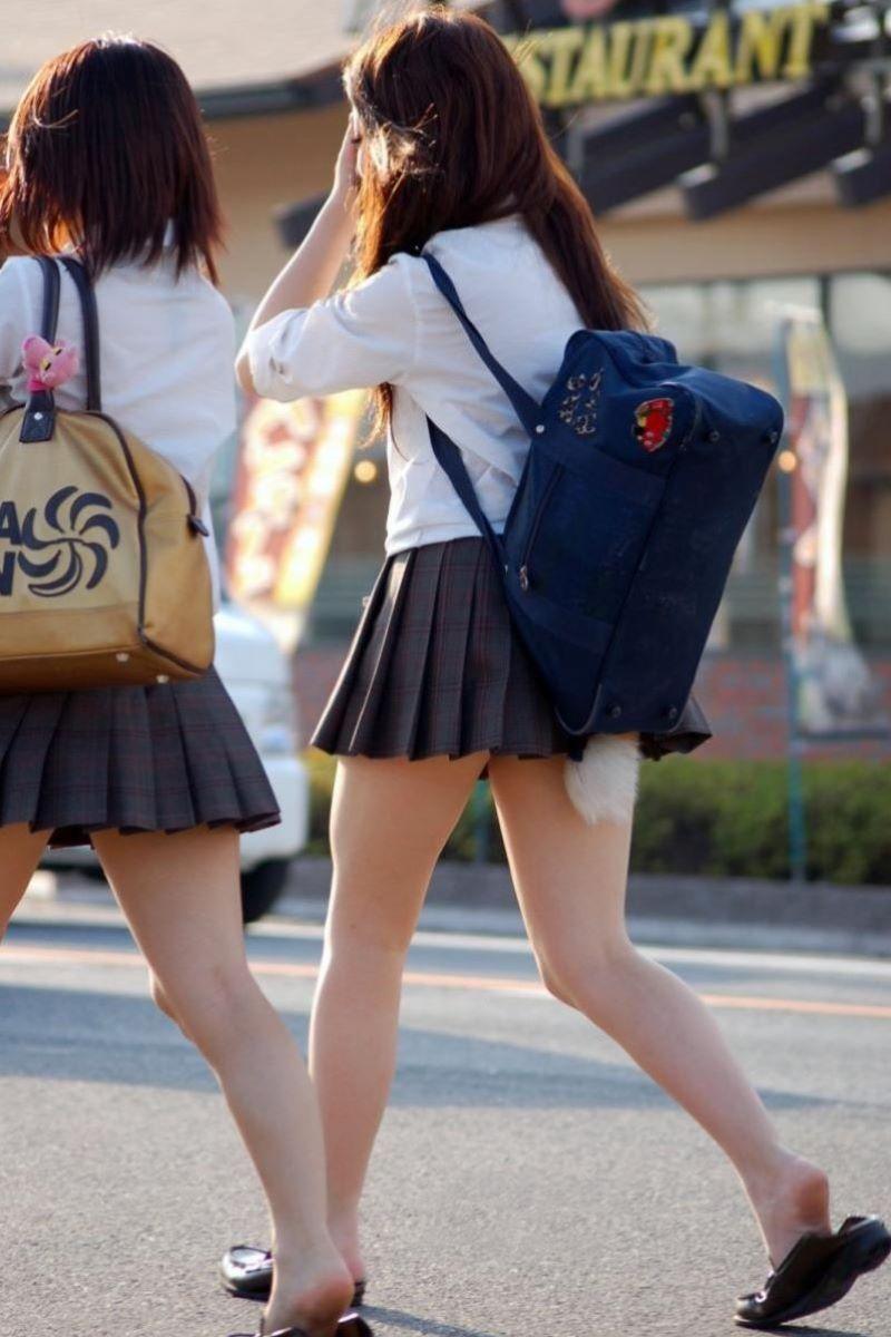 制服JK 女子高生 通学風景 画像 49
