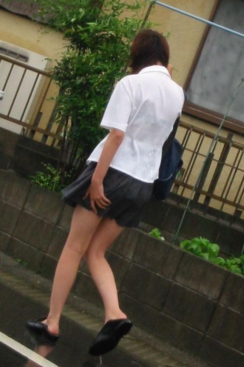 制服JK 女子高生 通学風景 画像 52