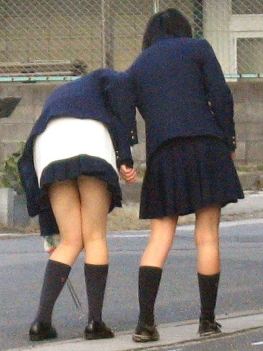 制服JK 女子高生 通学風景 画像 68