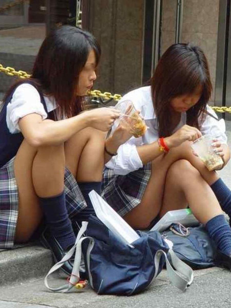 制服JK 女子高生 通学風景 画像 76
