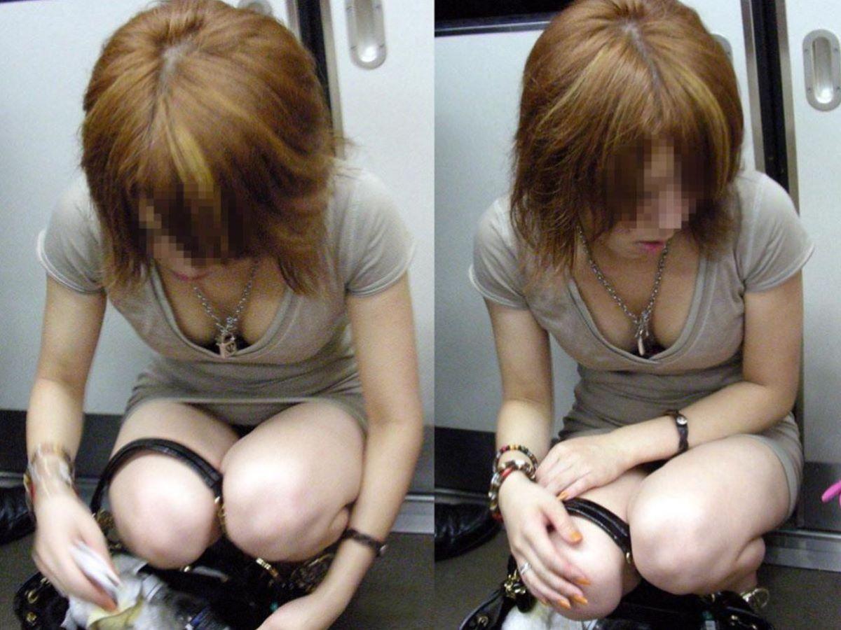 胸チラ 素人奥さん ゆるい胸元 エロ画像 75