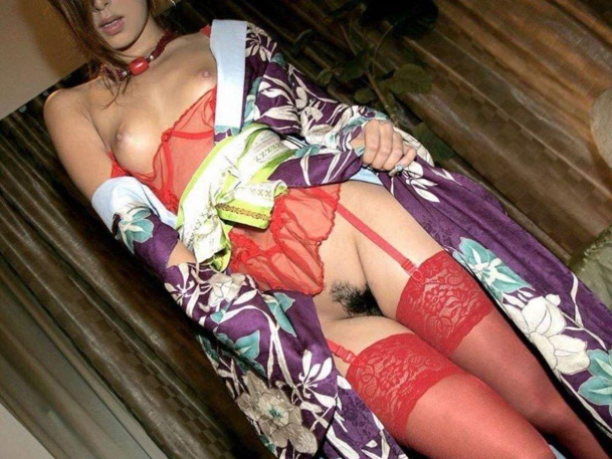 和服美女 鎖骨 エロ画像 87