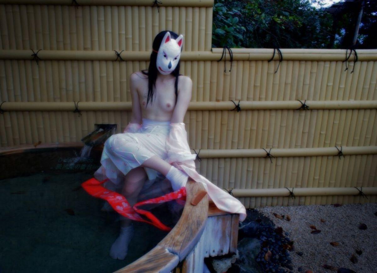 和服美女 鎖骨 エロ画像 89