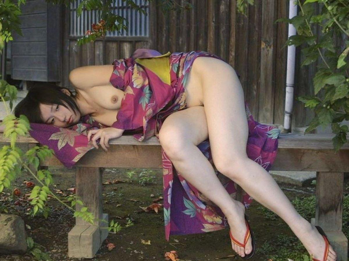 和服美女 鎖骨 エロ画像 102