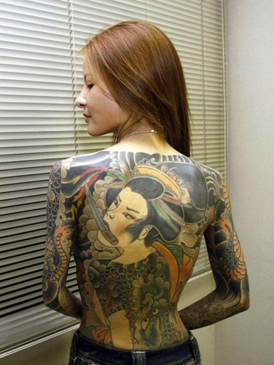 和彫りの刺青エロ画像 5