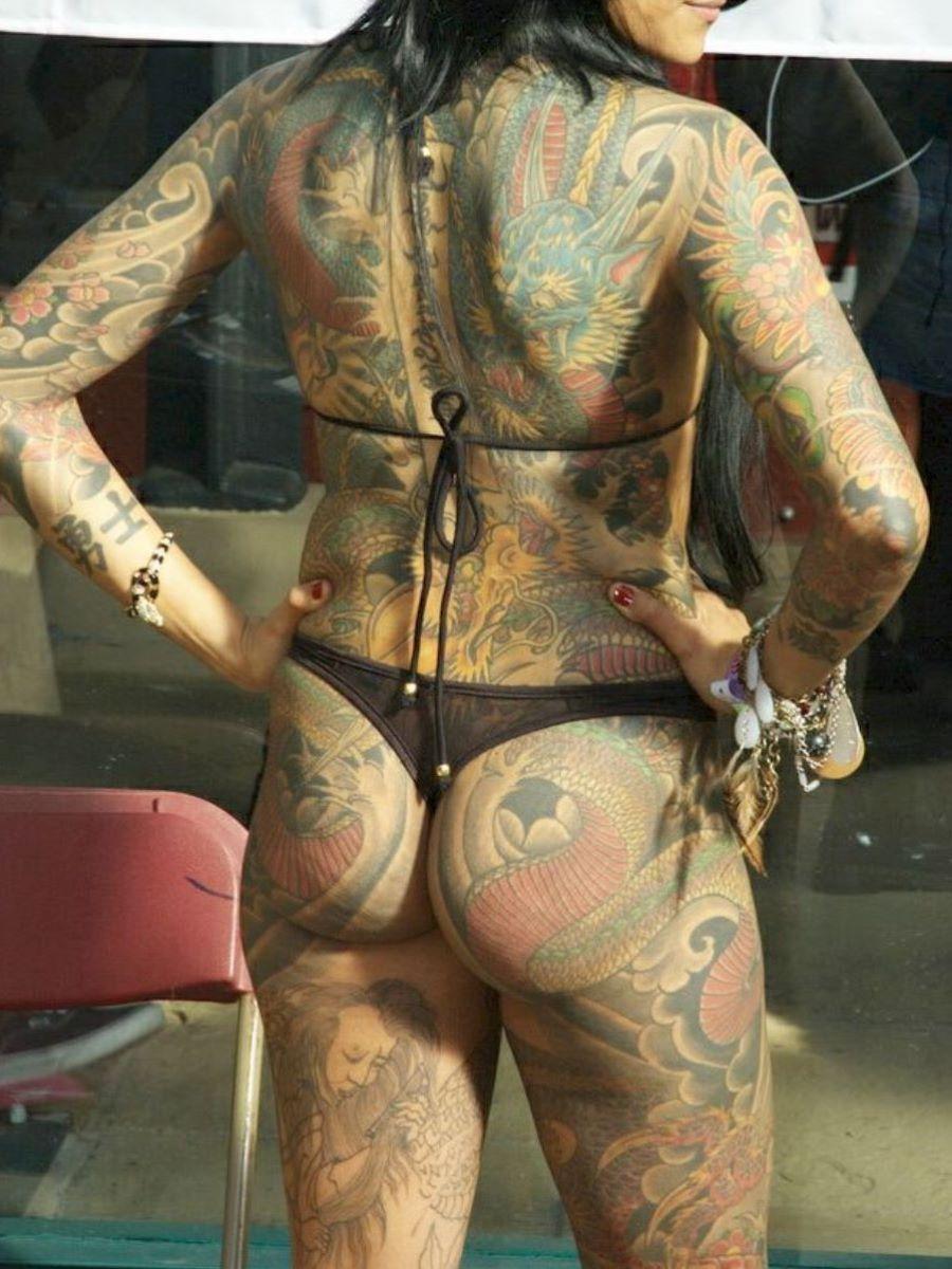 和彫りの刺青エロ画像 8