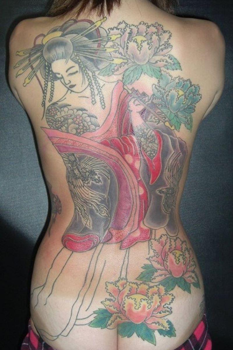 和彫りの刺青エロ画像 12