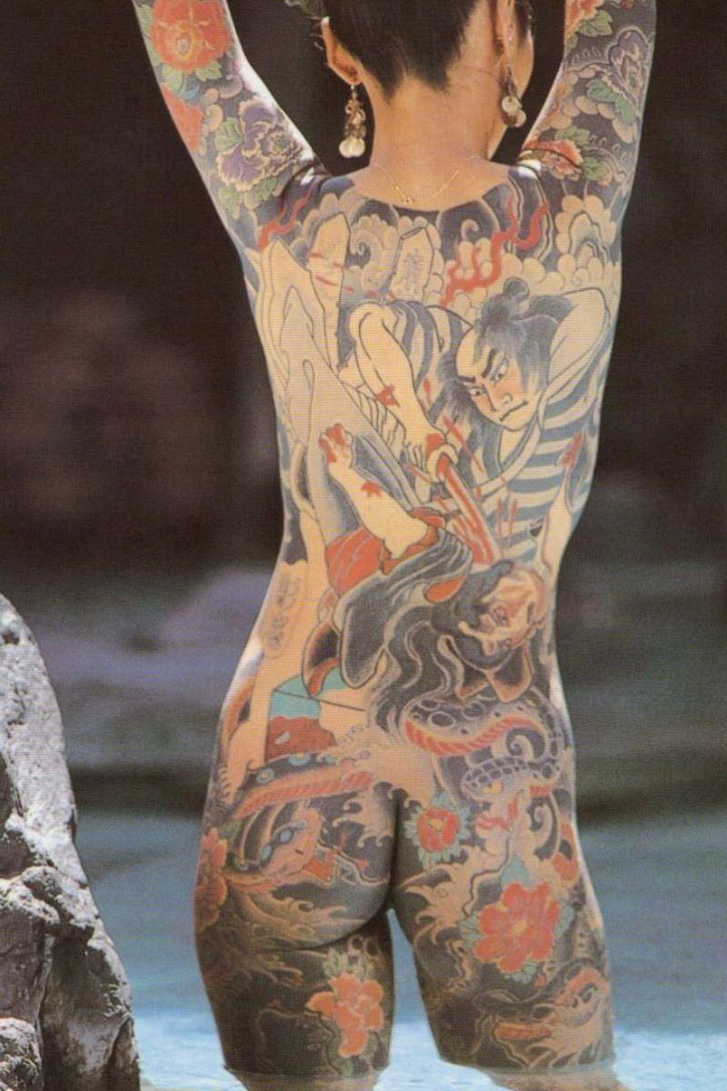 和彫りの刺青エロ画像 13