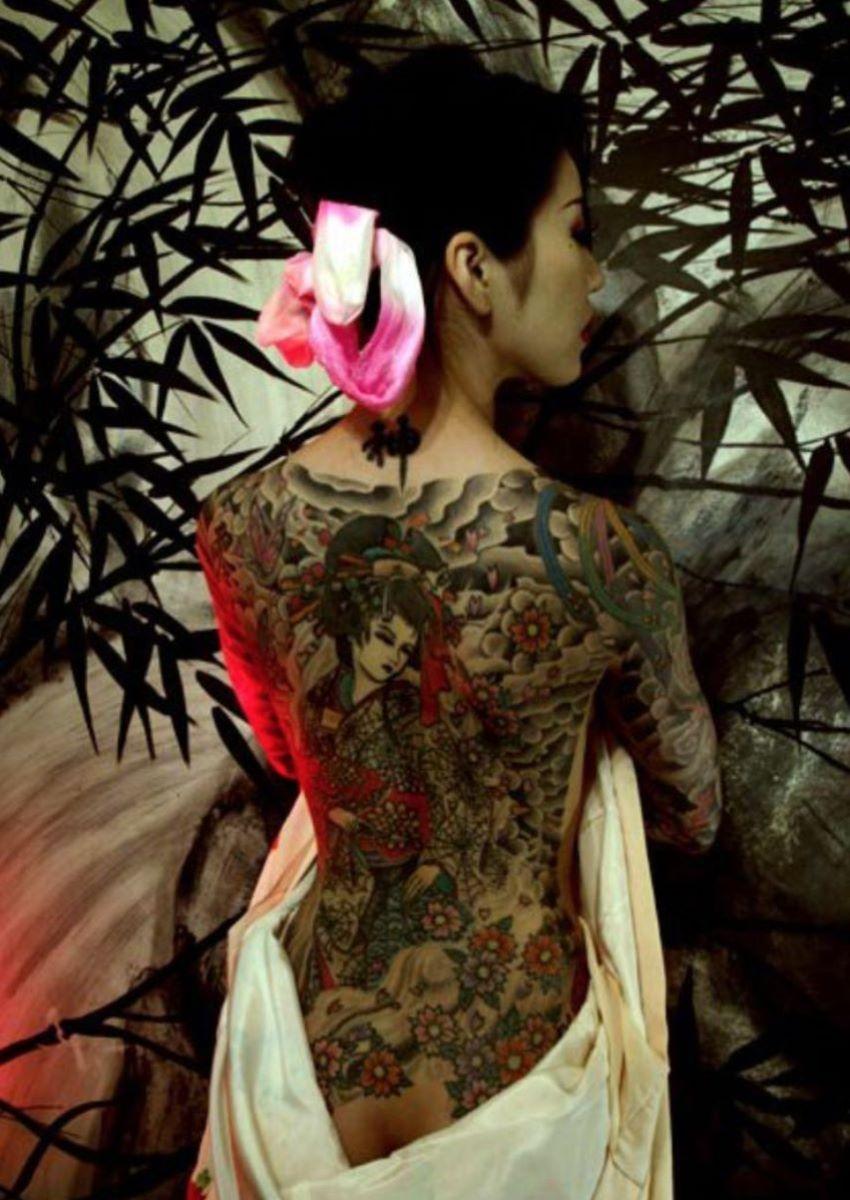 和彫りの刺青エロ画像 18