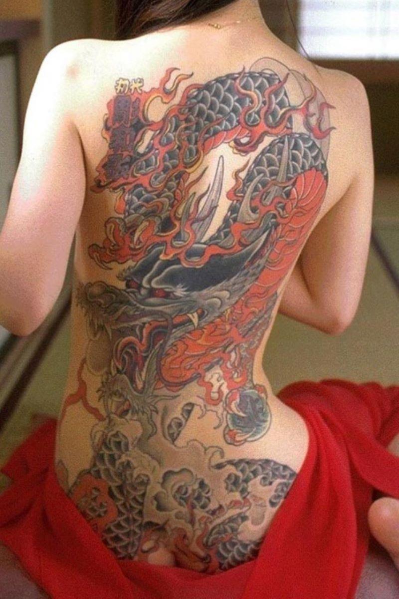 和彫りの刺青エロ画像 21