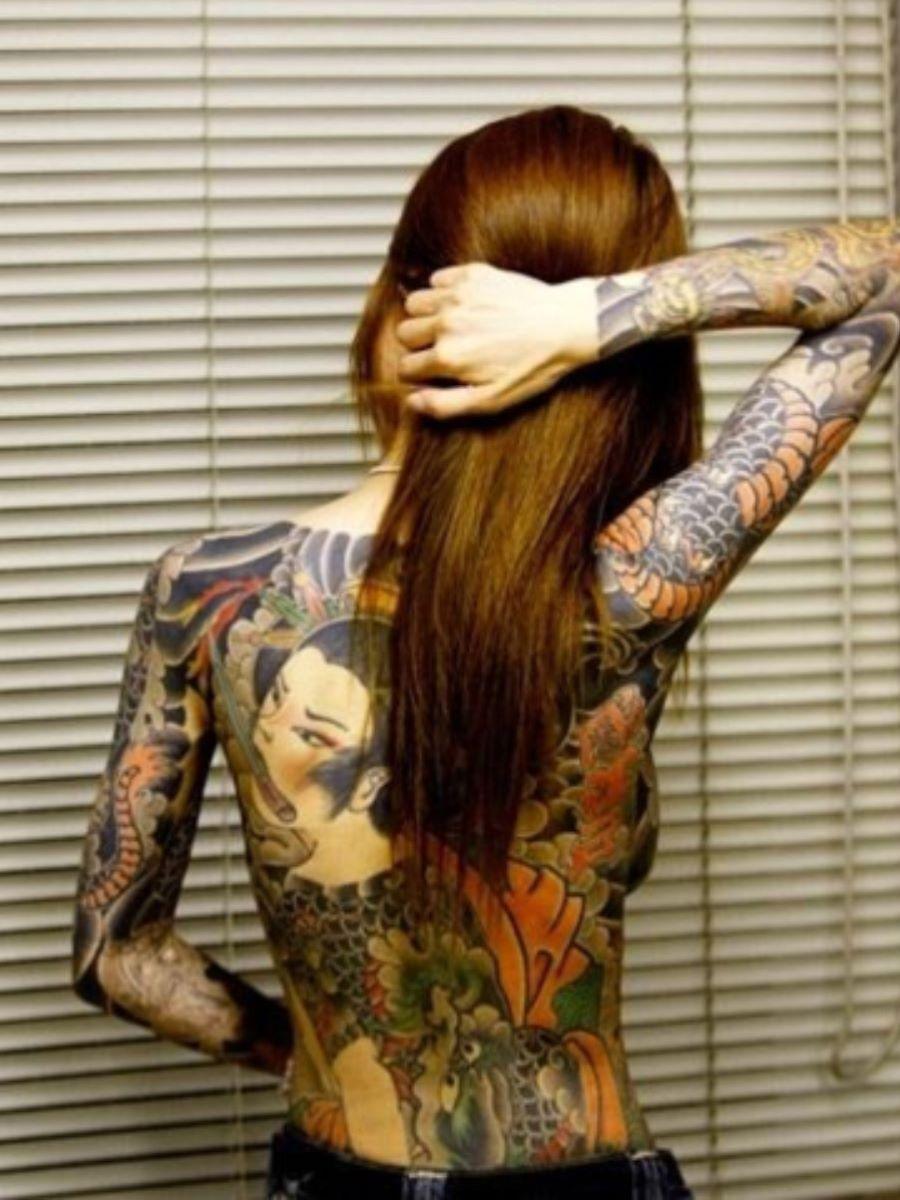 和彫りの刺青エロ画像 29