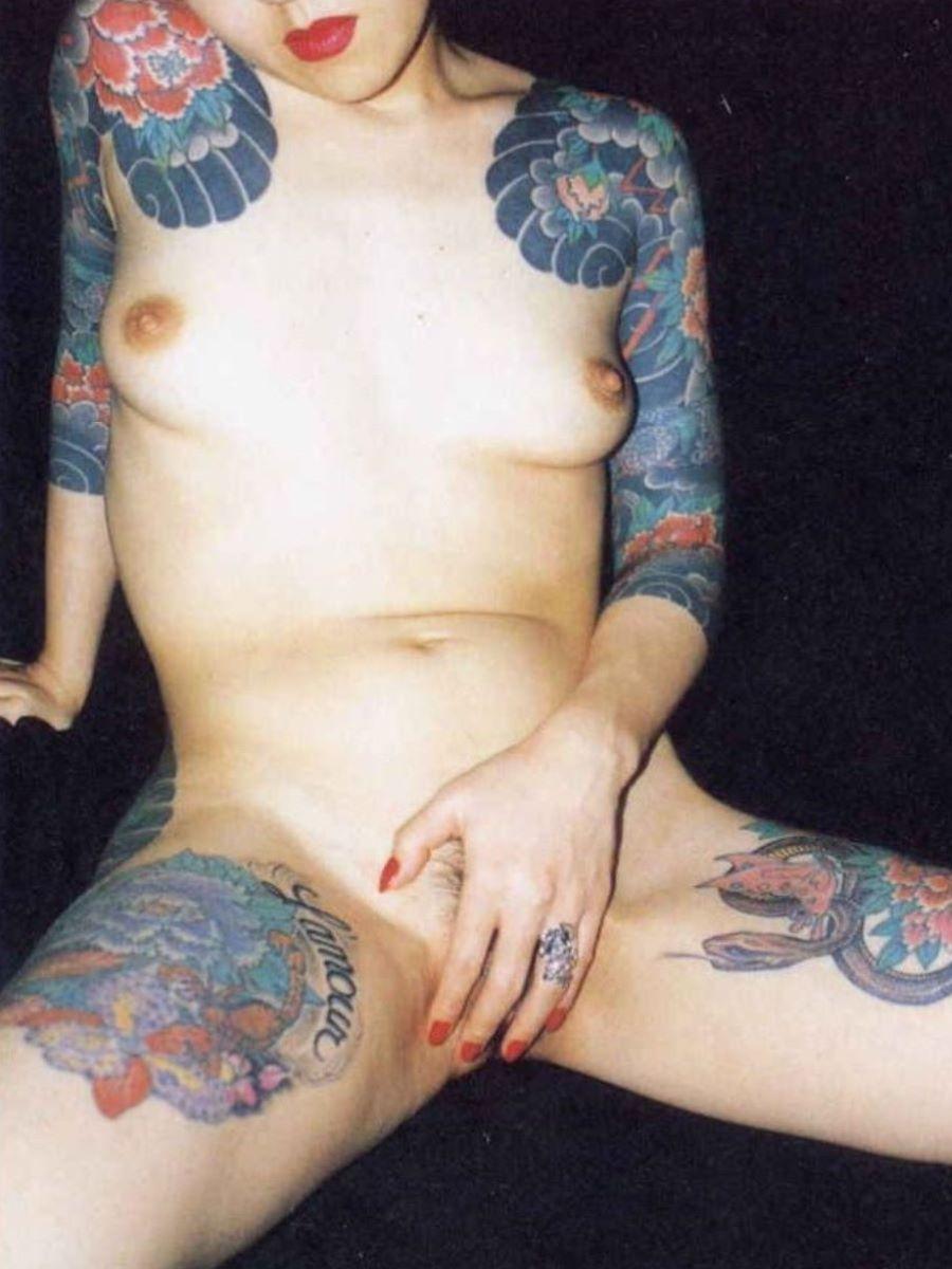 和彫りの刺青エロ画像 30