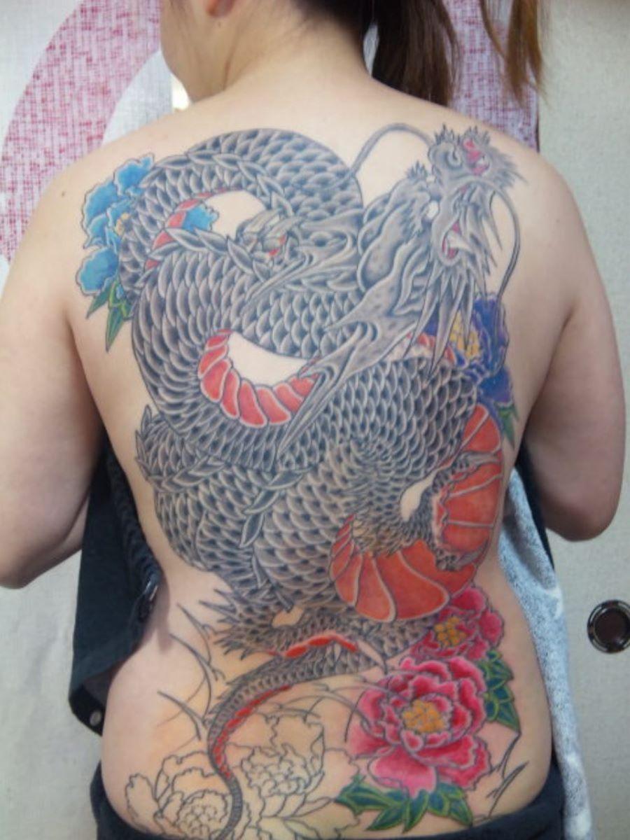 和彫りの刺青エロ画像 35