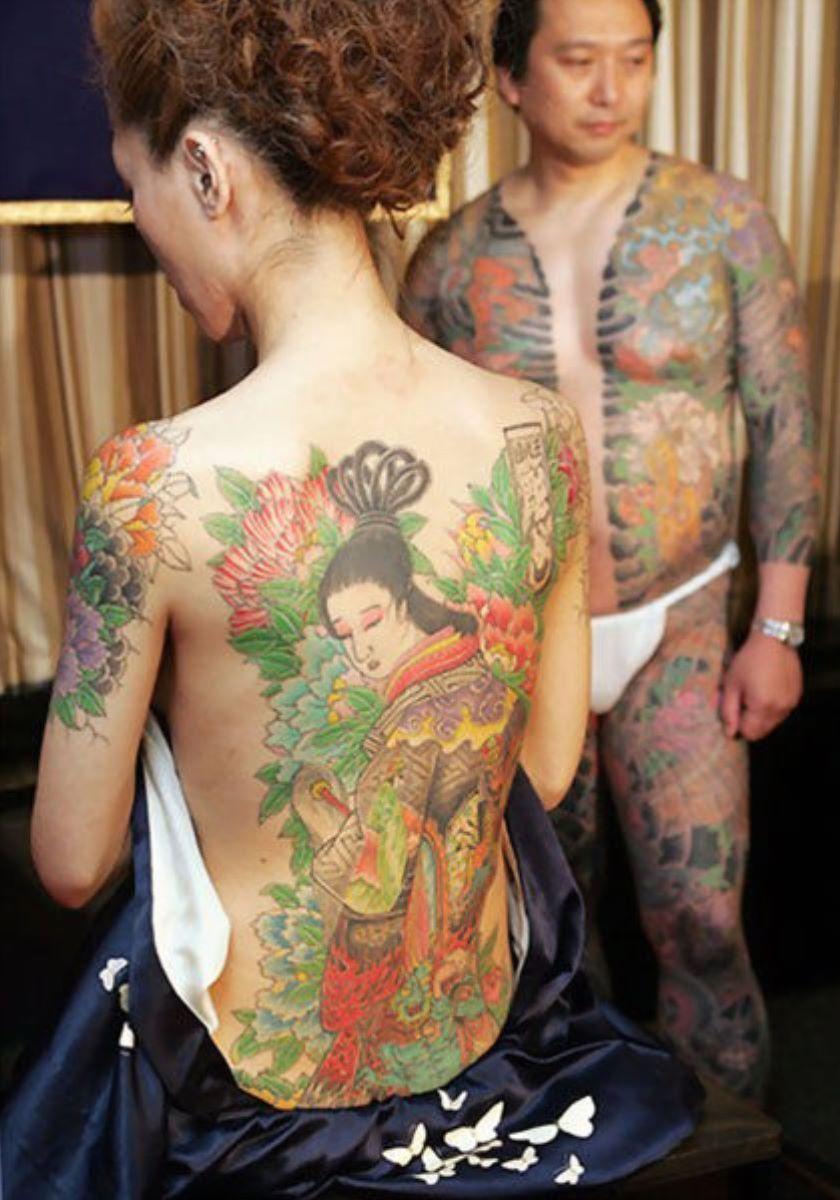 和彫りの刺青エロ画像 44