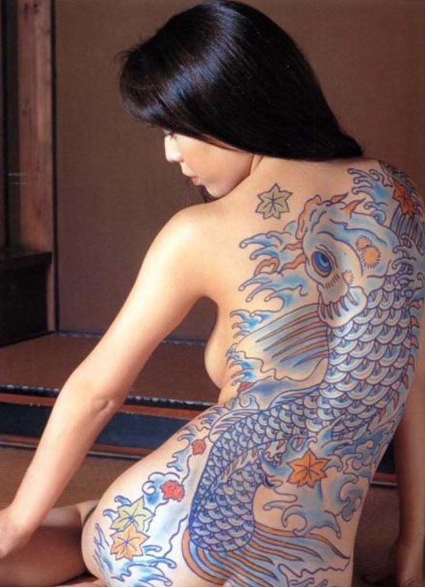 和彫りの刺青エロ画像 46