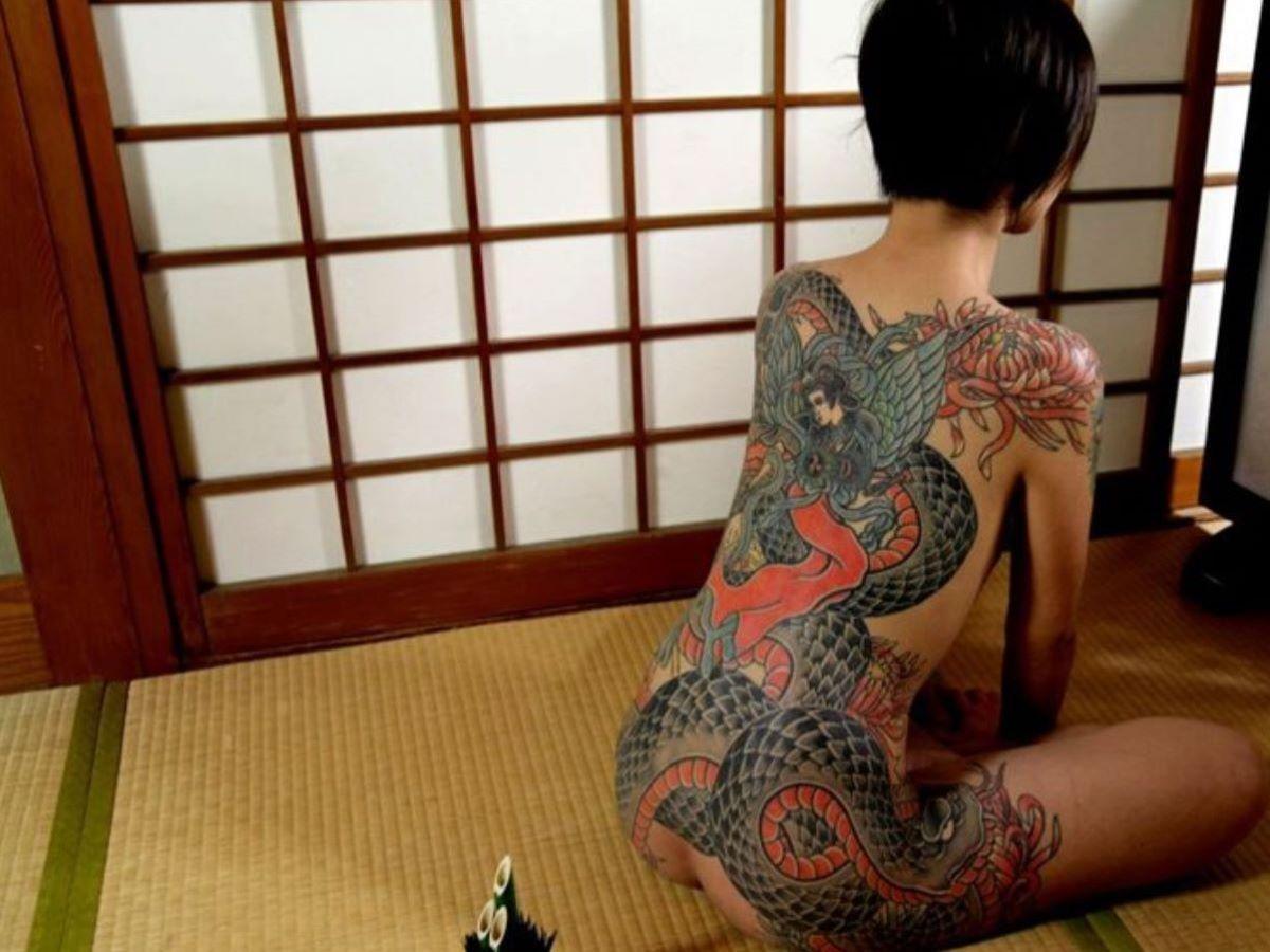 和彫りの刺青エロ画像 50