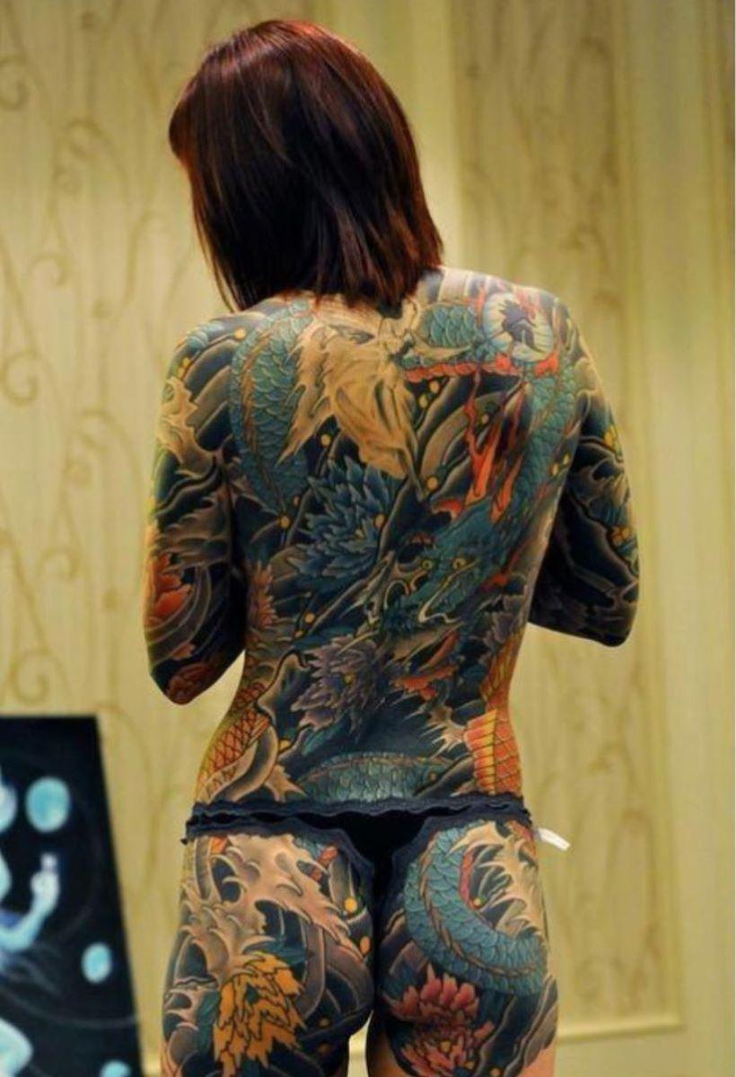 和彫りの刺青エロ画像 58