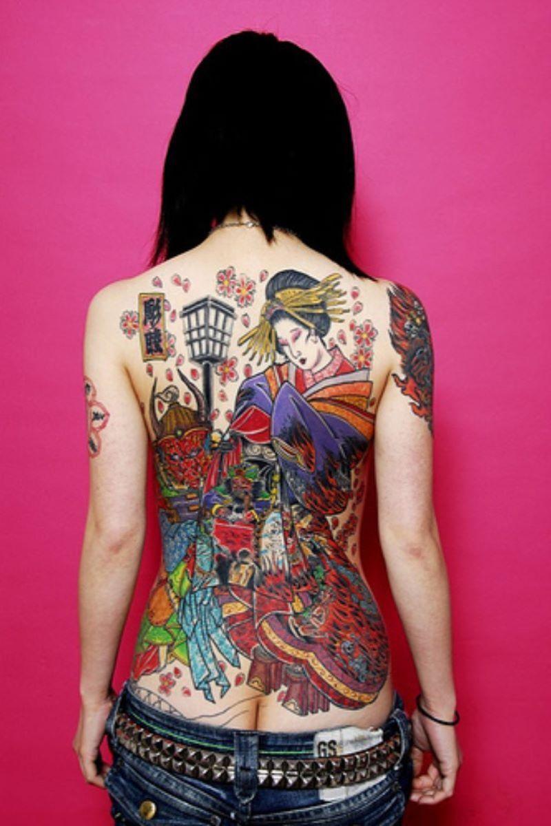 和彫りの刺青エロ画像 62